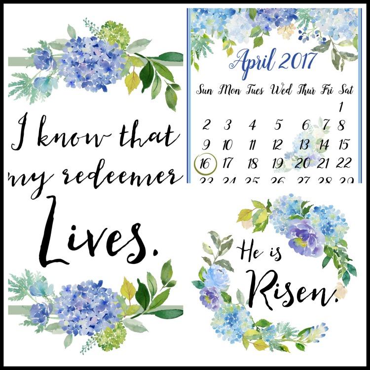 April 2017 Calendar Printables and FREE Easter Printables | The Everyday Home | www.everydayhomeblog.com