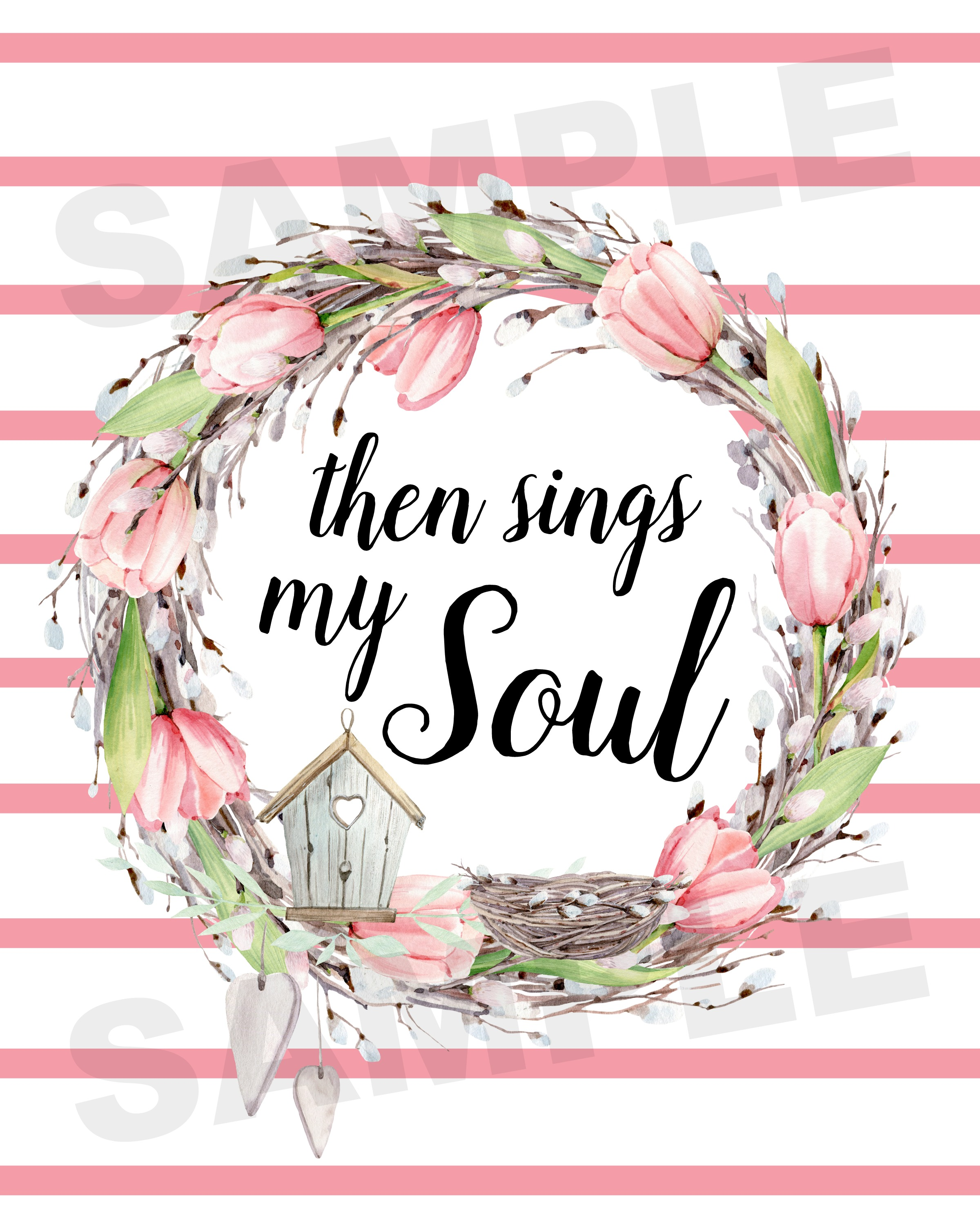 FREE Then Sings My Soul Spring Printable | The Everyday Home | www.everydayhomeblog.com