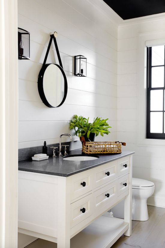10 Ways to Add Shiplap to Your Farmhouse Bathroom | The Everyday Home | www.everydayhomeblog.com
