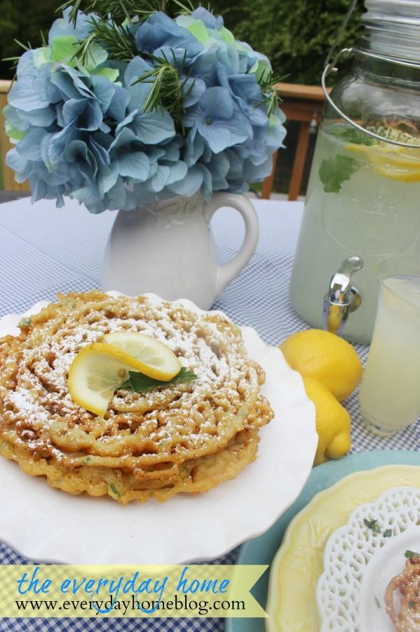 Perfect Summertime Lemon Funnel Cake | The Everyday Home | www.everydayhomeblog.com