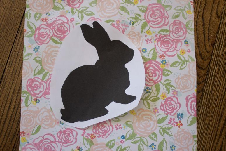 Scrapbook Paper Bunny Art | The Everyday Home | www.everydayhomeblog.com