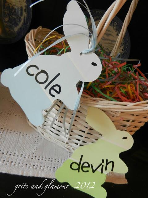 Paint Chip Bunny Basket Tags | The Everyday Home | www.everydayhomeblog.com
