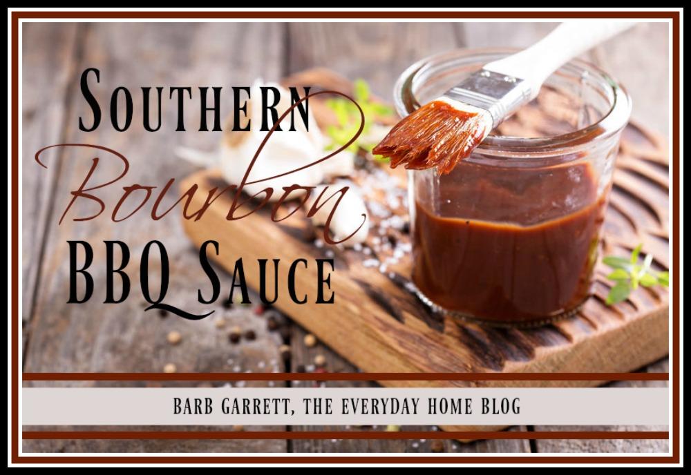 Homemade Southern Bourbon BBQ Sauce | The Everyday Home | www.everydayhomeblog.com