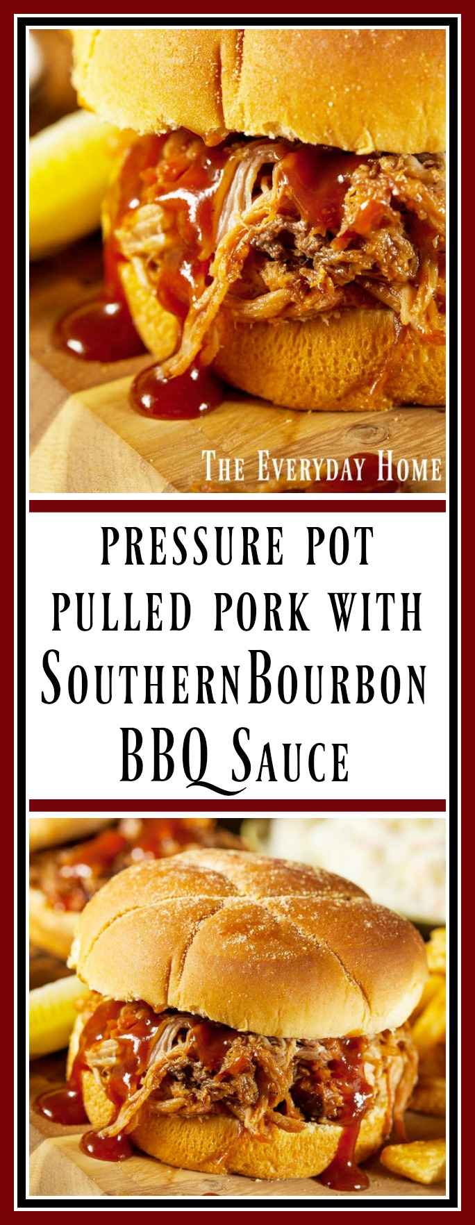 Pulled Pork with Southern Bourbon BBQ Sauce || The Everyday Home || www.everydayhomeblog.com