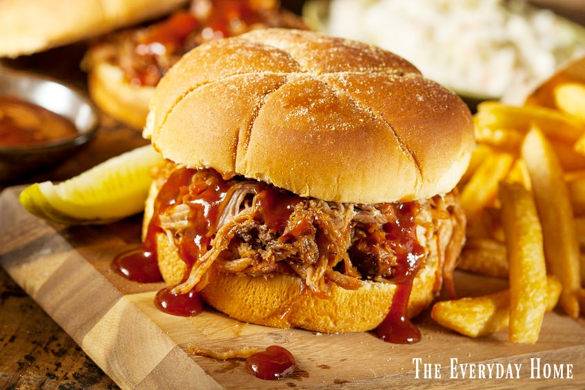 Pulled Pork with Southern Bourbon BBQ Sauce | The Everyday Home | www.everydayhomeblog.com