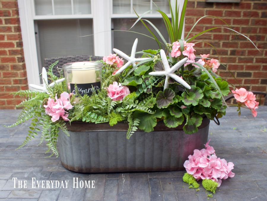 Easy summer farmhouse centerpiece the everyday home