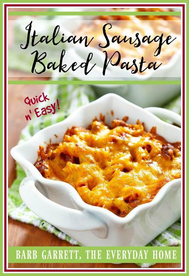 Easy Baked Italian Sausage Pasta