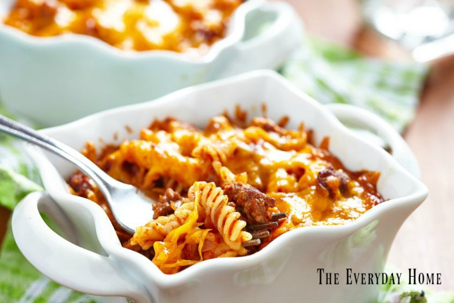 Quick and Easy Baked Pasta with Italian Sausage | The Everyday Home | www.everydayhomeblog.com