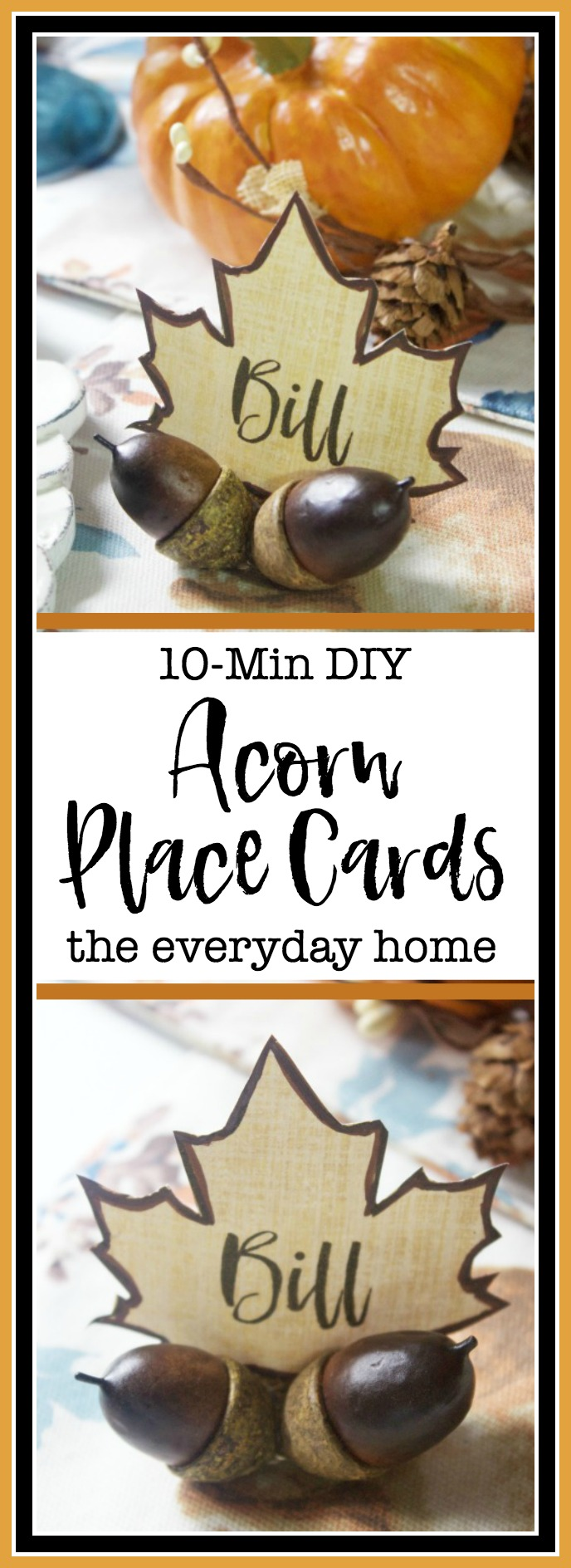 10-Min DIY Fall Acorn Place Card Holders | The Everyday Home
