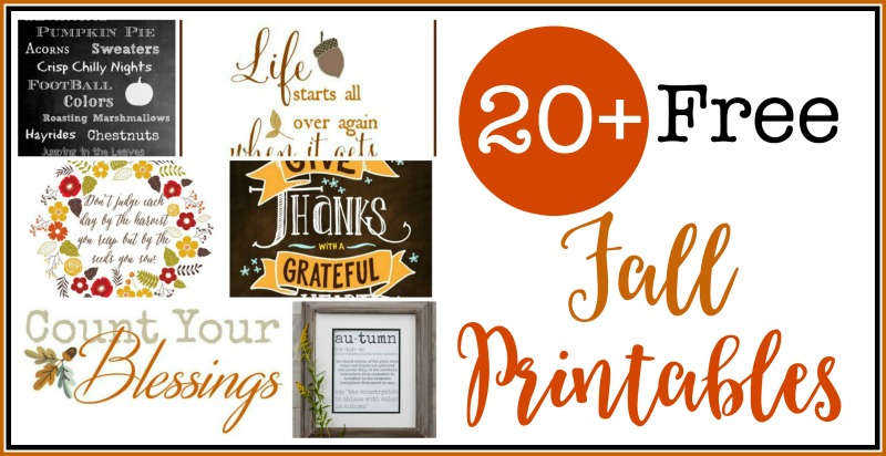 20+ Free Fall Printables | The Everyday Home