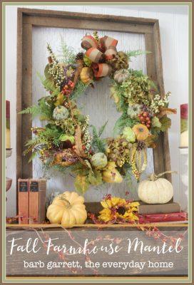 Fall Farmhouse Mantel