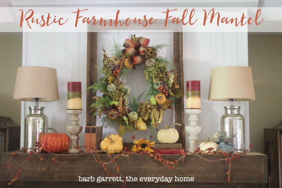 A Rustic Fall Mantel | The Everyday Home | www.everydayhomeblog.com