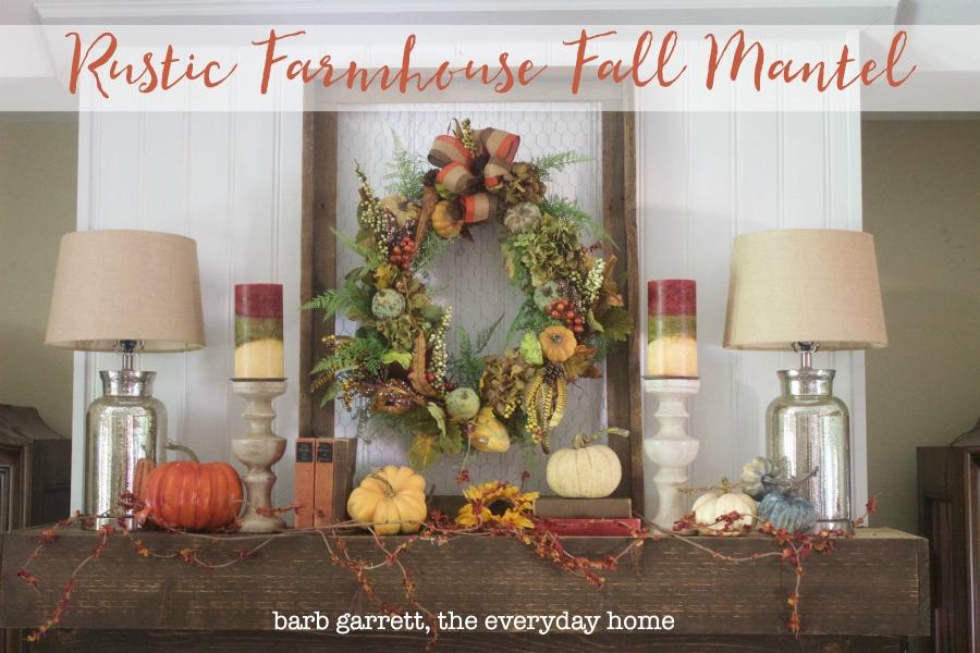 A Rustic Fall Mantel | The Everyday Home | www.everydayhomeblog.com