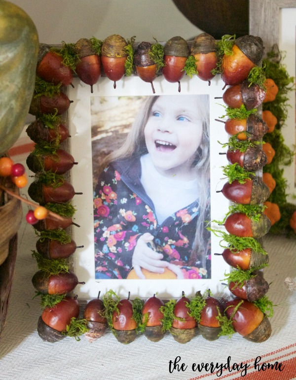 DIY Acorn Picture Frame | The Everyday Home