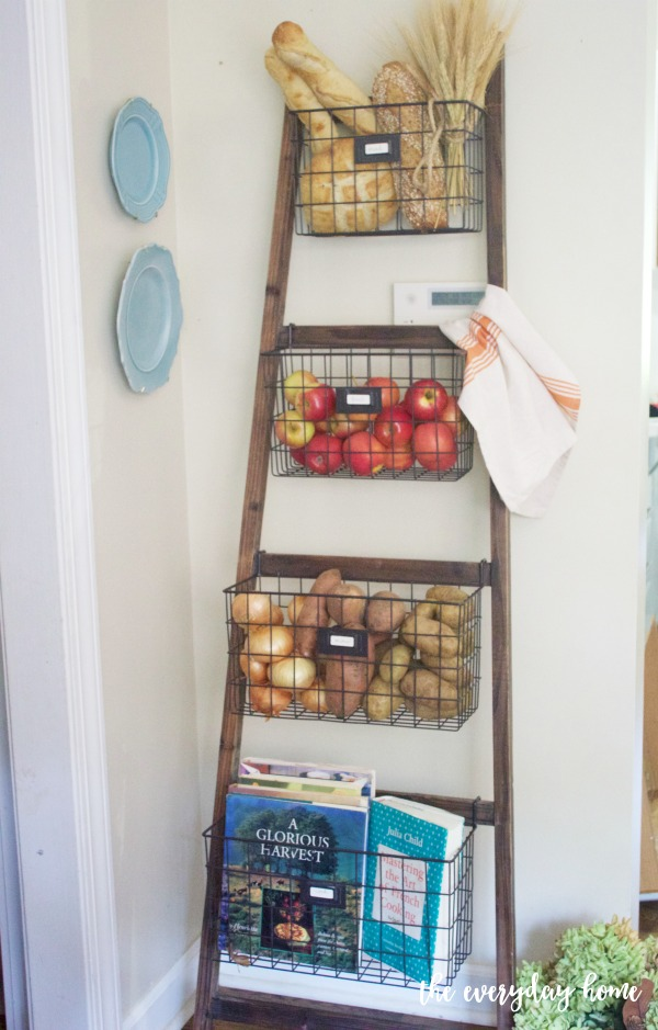 Basket Ladder Organizer | The Everyday Home