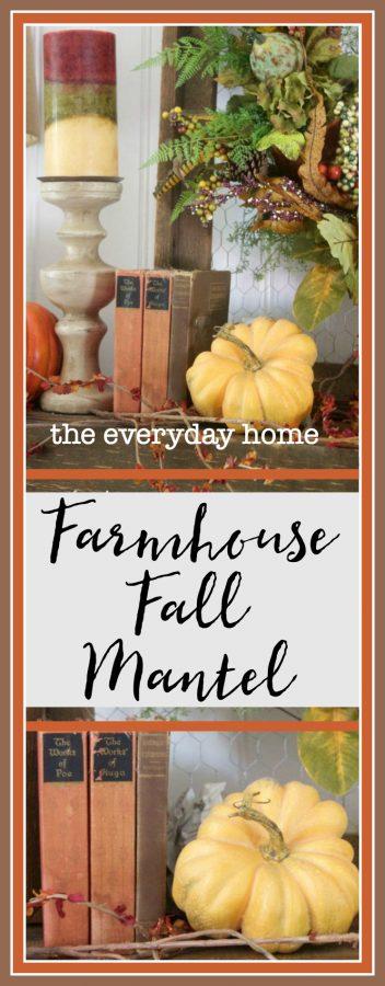 Create a Farmhouse Fall Mantel | The Everyday Home | www.everydayhomeblog.com