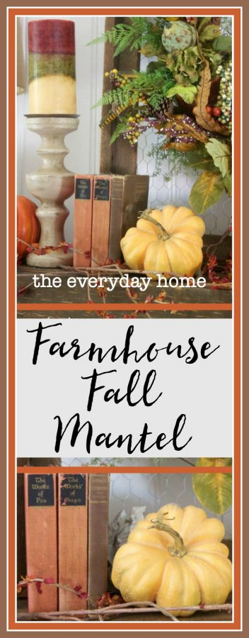 Create a Farmhouse Fall Mantel | The Everyday Home | www.everydayhomeblog.com