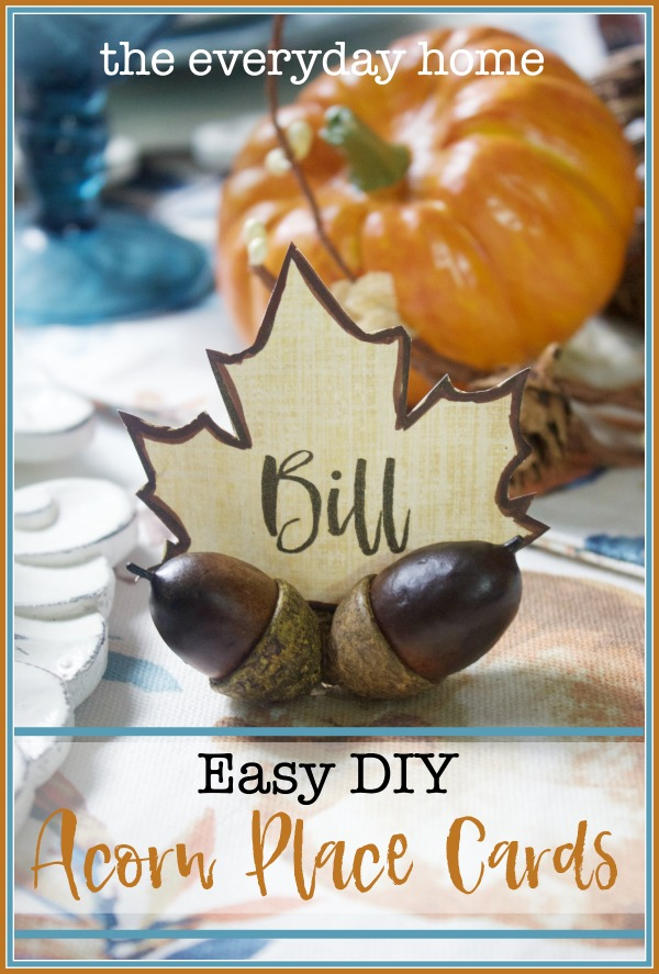 Easy DIY Acorn Place Cards | The Everyday Home