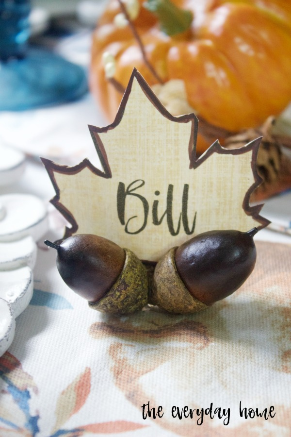 DIY Fall Acorn Place Card Holders | The Everyday Home