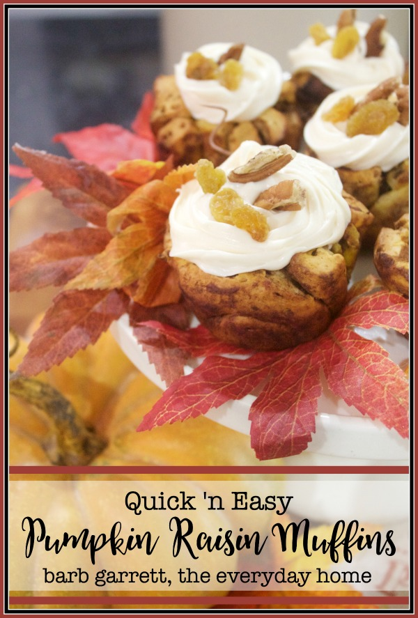 Easy Pumpkin Raisin Muffin Recipe | The Everyday Home