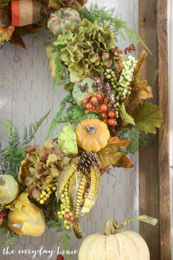 Elements of a Rustic Fall Mantel Wreath | The Everyday Home | www.everydayhomeblog.com
