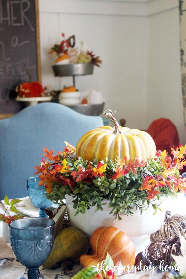 A Fall Pumpkin Centerpiece | The Everyday Home