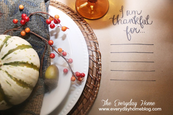 Using Brown Craft Paper in a Fall Tablescape | The Everyday Home