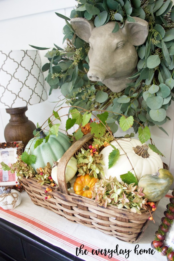 Fall Farmhouse Basket and Vignette | The Everyday Home