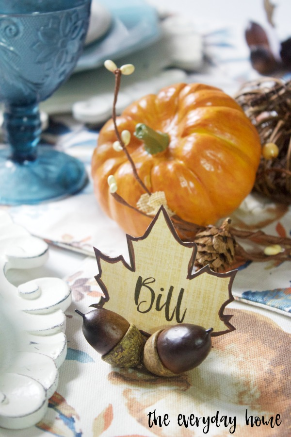 Easy DIY Fall Acorn Place Card Holders | The Everyday Home Blog