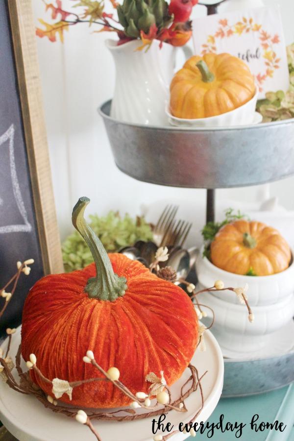 Orange Velvet Pumpkin | The Everyday Home