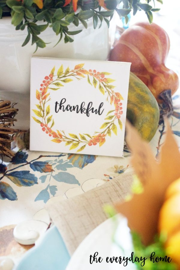 A Thankful Mini Canvas Sign | The Everyday Home