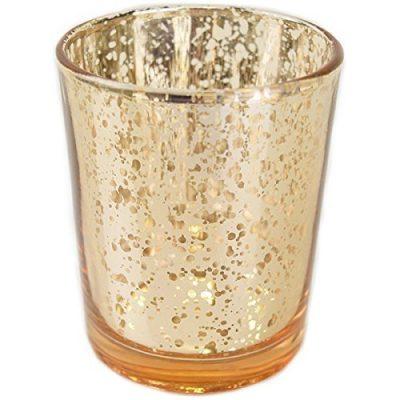 Amber Mercury Glass Votive Holders | The Everyday Home