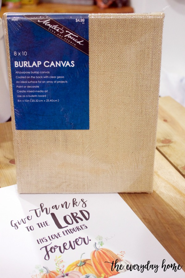 8x10 Burlap Canvas | The Everyday Home