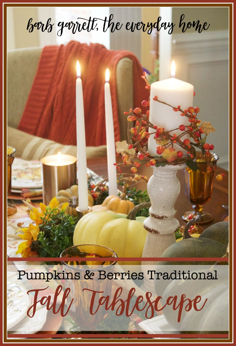 A Traditional Fall Dining Room Tablescape | The Everyday Home