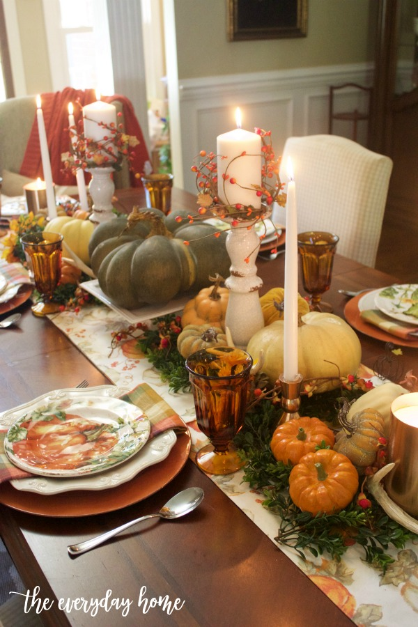 Fall Tablescape by Candlelight | The Everyday Home