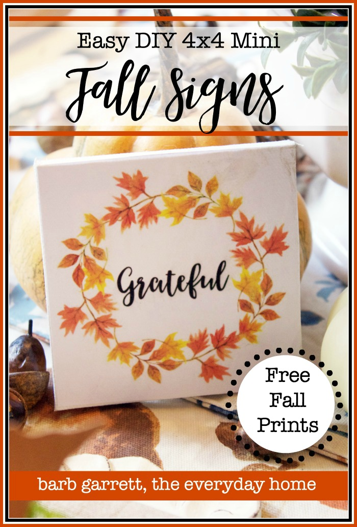 Easy DIY Mini Fall Signs with Free Printables | The Everyday Home
