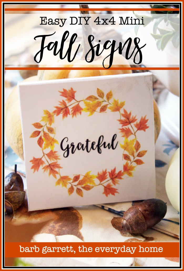 Mini Fall Signs with Free Printables | The Everyday Home