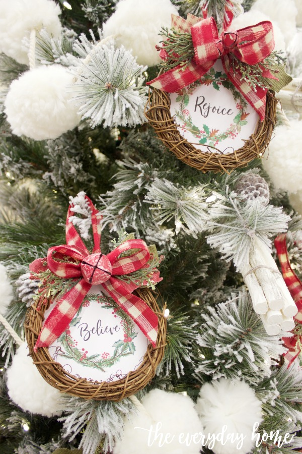 Mini Christmas Ornaments (Free Printables) | The Everyday Home
