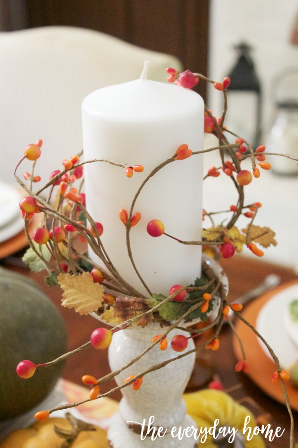 Fall Berry Wrapped Candle | The Everyday Home
