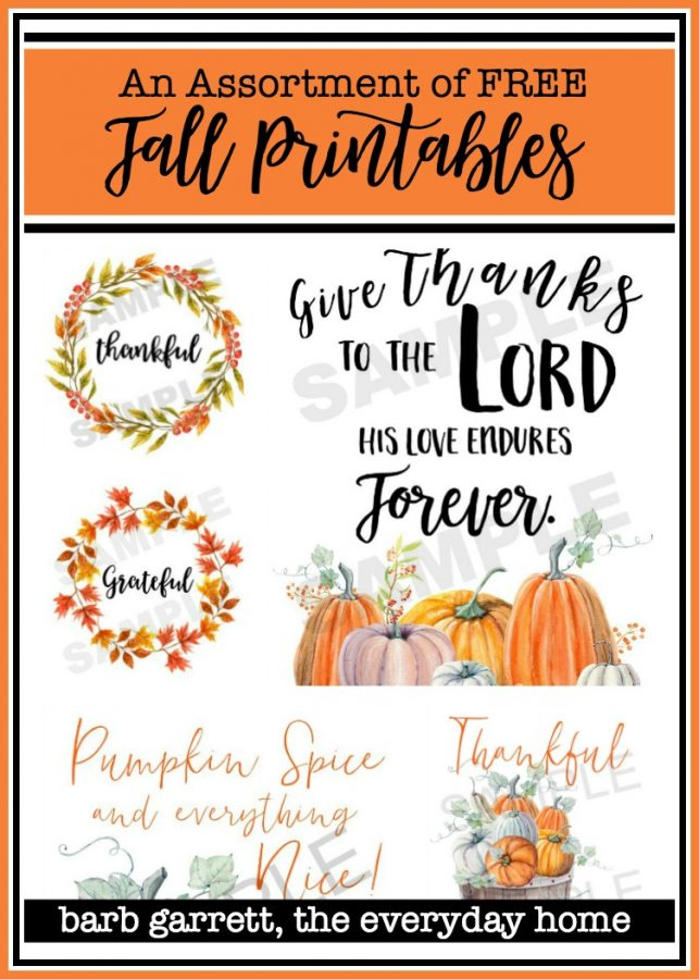 Free Fall Printables | The Everyday Home
