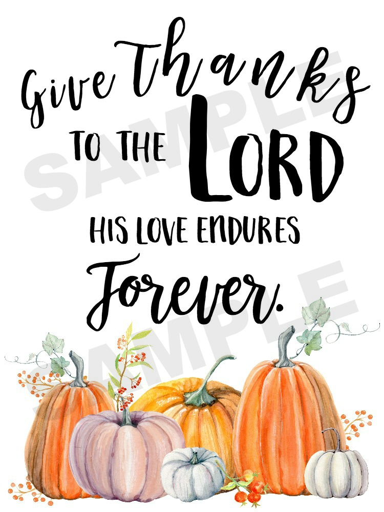 Give Thanks FREE Fall Printable | The Everyday Home