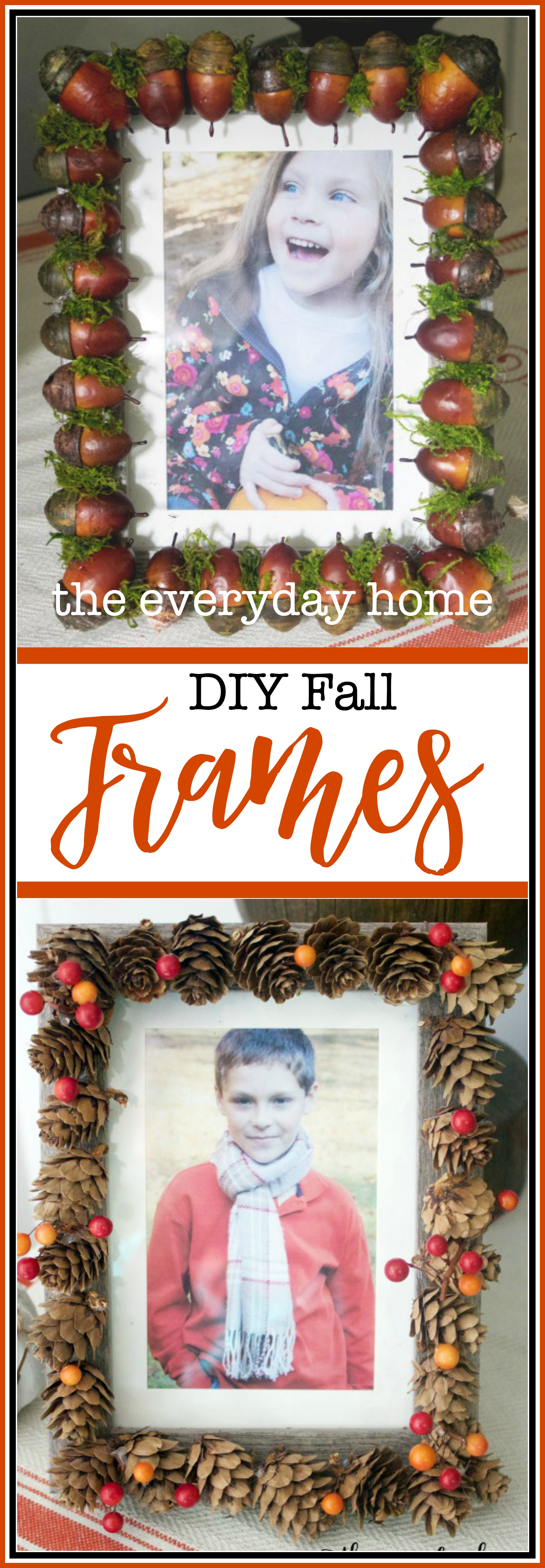 3 Easy DIY Picture Frames for Fall | The Everyday Home