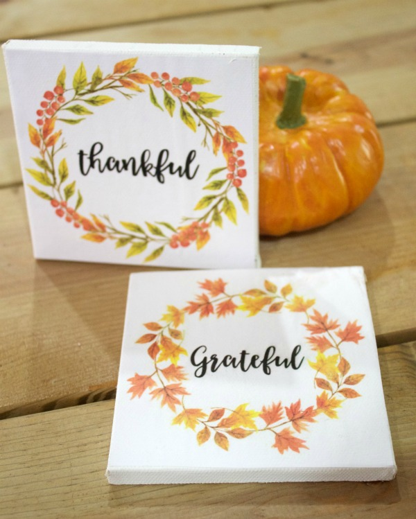Mini Fall 4x4 Signs | The Everyday Home