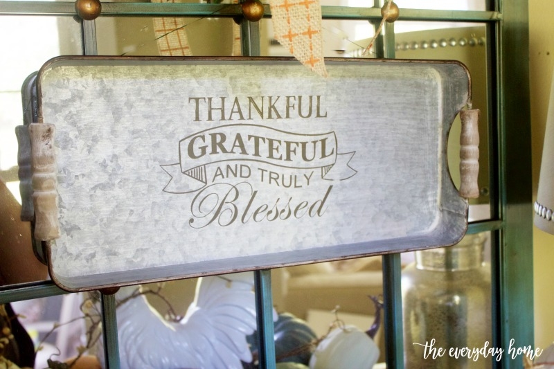 Thankful Metal Tray | The Everyday Home