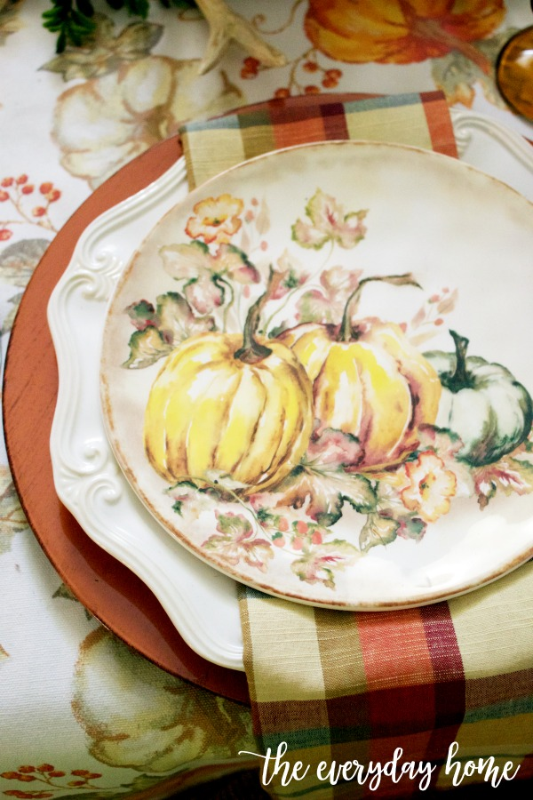 Traditional Fall Tablescape Dishes | The Everyday Home