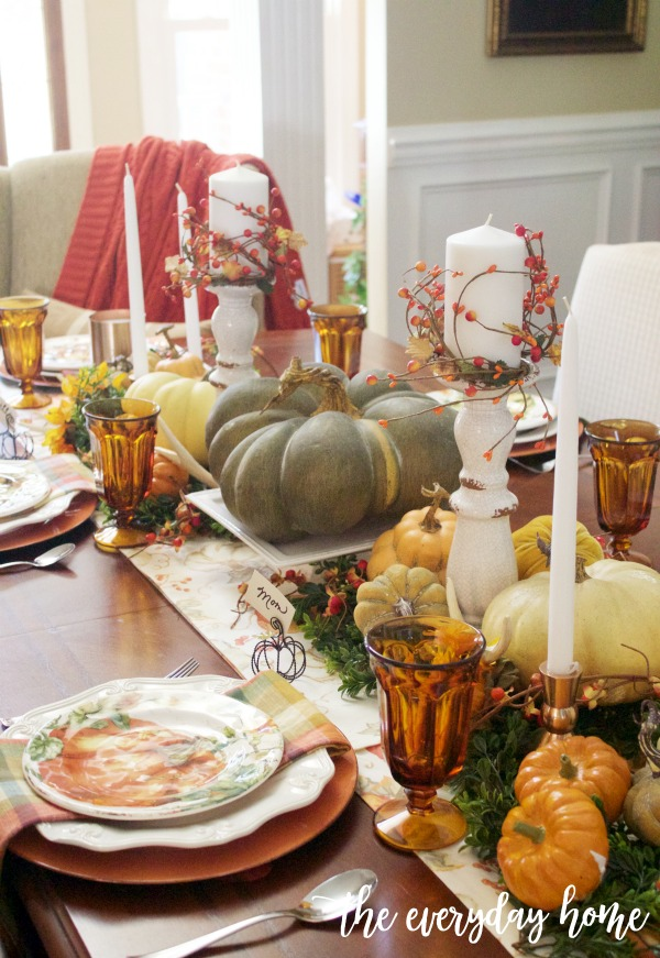 Traditional Fall Tablescape | The Everyday Home