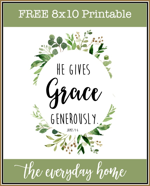 Free 8x10 Grace Printable | The Everyday Home