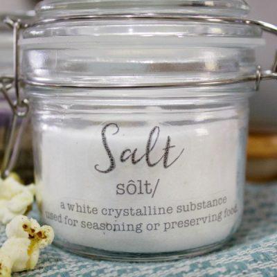 DIY Salt and Pepper Jars