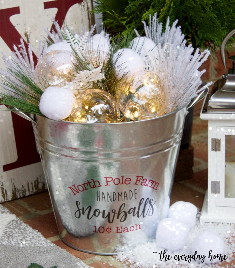 Crafting an Easy DIY Snowball Bucket | The Everyday Home