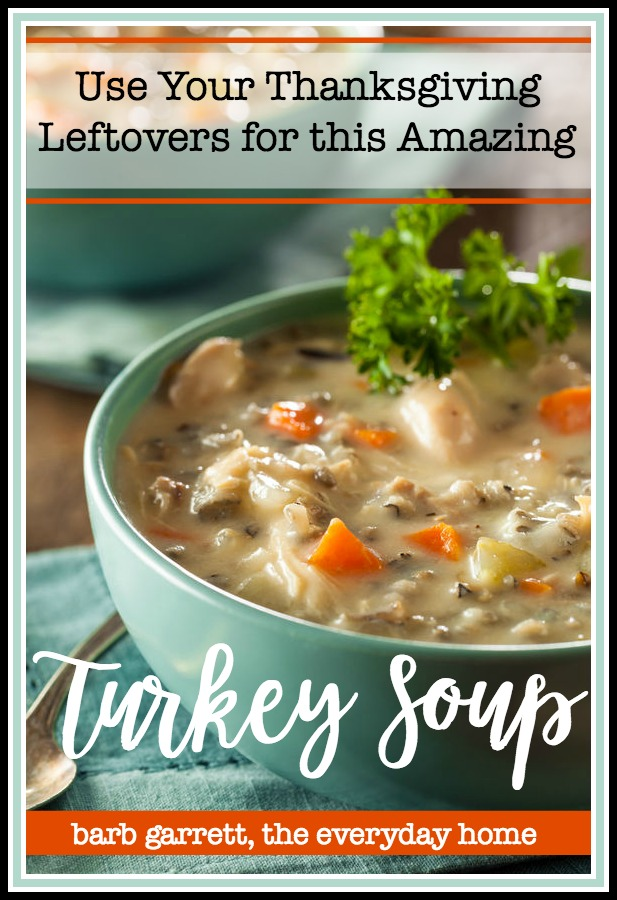 Thanksgiving Leftovers Turkey Soup - The Everyday Home